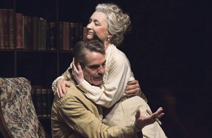 Jeremy Irons and Lesley Manville in Long Day's Journey Into Night, which transferred into the West End from Bristol Old Vic. Photo: Hugo Glendinning