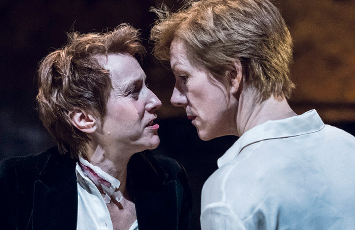 Lia Williams and Juliet Stevenson in Mary Stuart, which moved from the Almeida to the Wyndham's in London. These shows with big stars should and could be touring the country, says Edward Snape, with a little more security for commercial producers. Photo: Manuel Harlan
