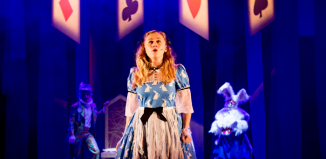 Ruby Campbell in Alice: the Musical at the Lyric, Belfast. Photo: Melissa Gordon