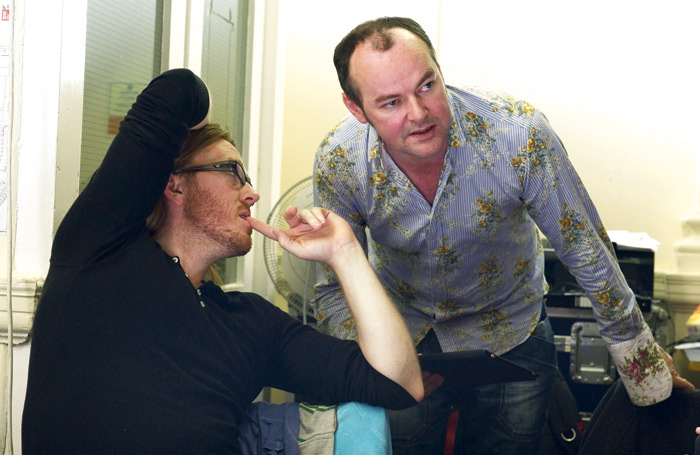 Tim Minchin and Dennis Kelly in rehearsal at the RSC for Matilda. Photo: Manuel Harlan