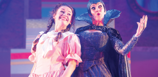 Emma Mullen and Helen Logan in Snow White and the Seven Dames. Photo: Tommy Ga Ken Wan