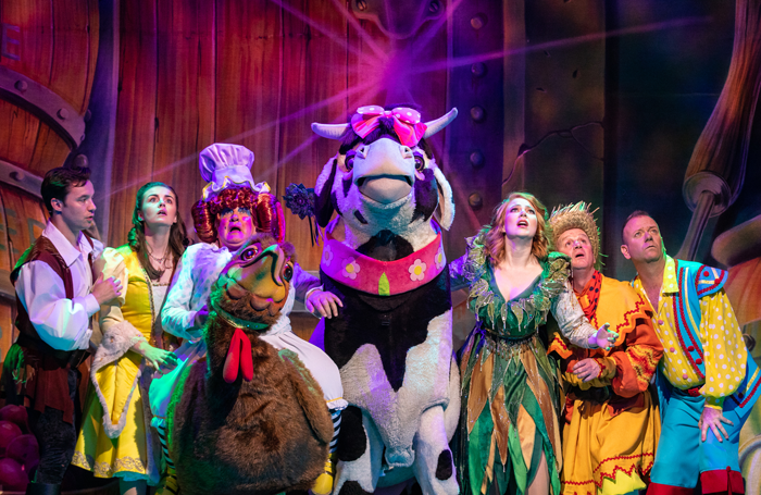 The cast of Jack and the Beanstalk at Grand Opera House, Belfast