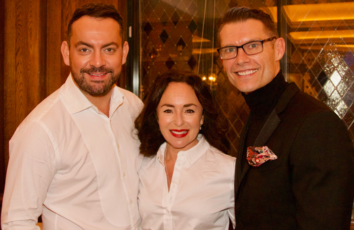 Ben Forster, Samantha Spiro and John Partridge at the Acting for Others event