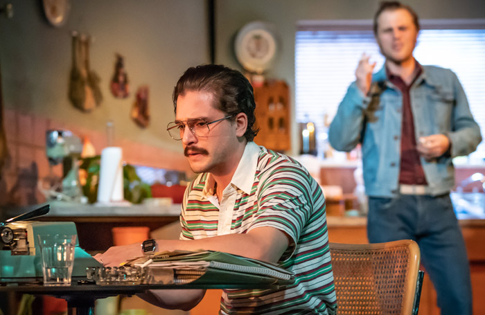 Kit Harington and Johnny Flynn in True West at Vaudeville Theatre. Photo: Marc Brenner