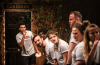 The cast of Return to Elm House at Battersea Arts Centre. Photo: Adam Trigg