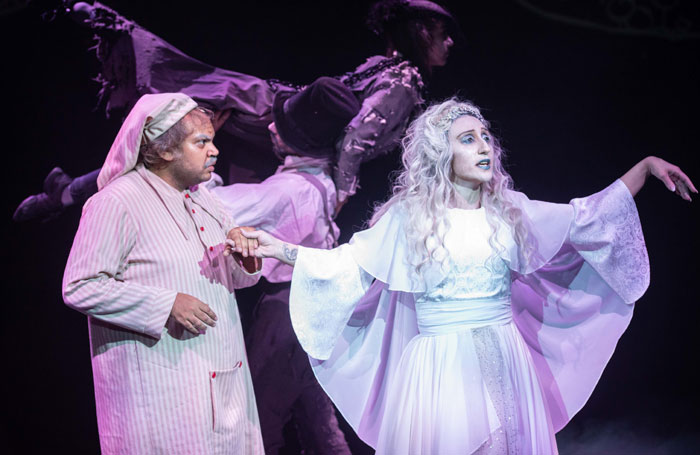 Ashley Driver and Gemilla Shamruk in A Christmas Carol at Chickenshed, London. Photo: Natalie Greco