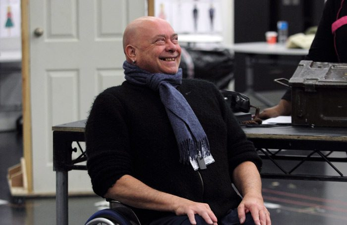 Garry Robson in rehearsals for White Christmas at Leicester's Curve. Photo: Catherine Ashmore