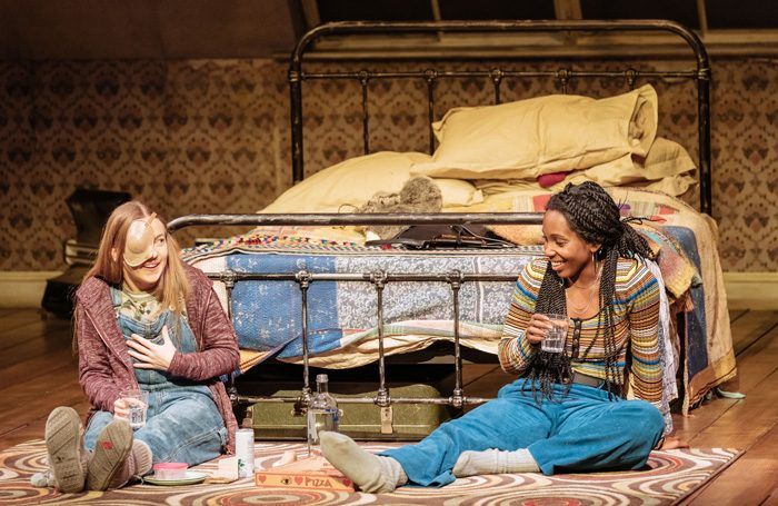 Imogen Doel and Tamara Lawrance in The Tell-Tale Heart at National Theatre's Dorfman, London