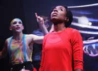 Benjamin Victor and Mary Nyambura in Dialektikon at Park Theatre, London. Photo: Amoroso Films