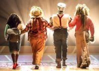 Consuella Rolle, Natalie Woods, Ben Oliver and Richard Colvin in The Wizard of Oz. Photo: Mark Carline