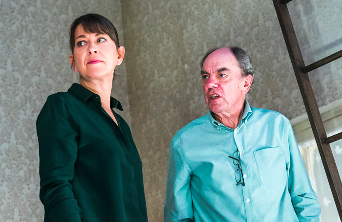 Nicola Walker and Alun Armstrong in The Cane at Royal Court. Photo: Tristram Kenton