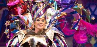 Snow White at the London Palladium. Julian Clary as the Man in the Mirror. Photo: Paul Coltas