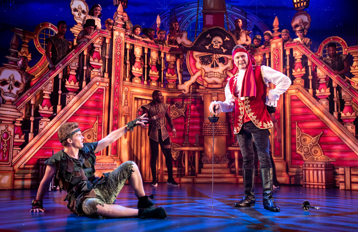 Joe Sleight and Darren Day in Peter Pan, Royal and Derngate. Photo: Graeme Braidwood