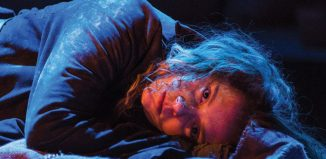 Jessica Hardwick in Knives in Hens at Perth Theatre. Photo: Tommy Ga-Ken Wan