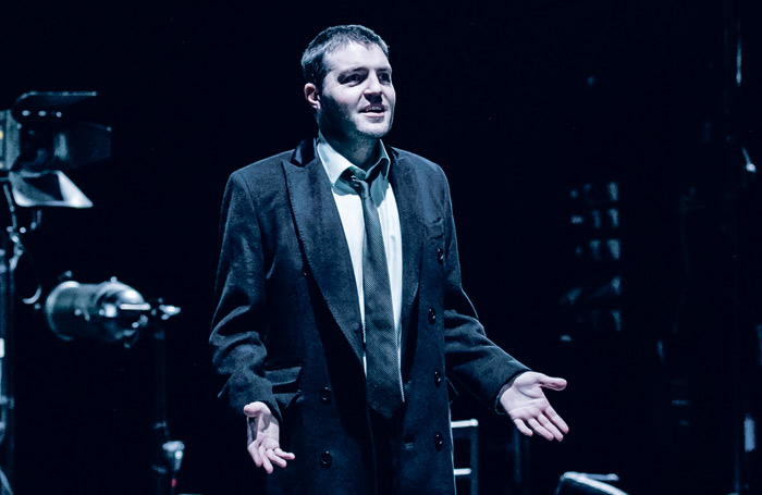 Playing to the front row: Tom Burke in Don Carlos at Exeter Northcott Theatre. Photo: The Other Richard