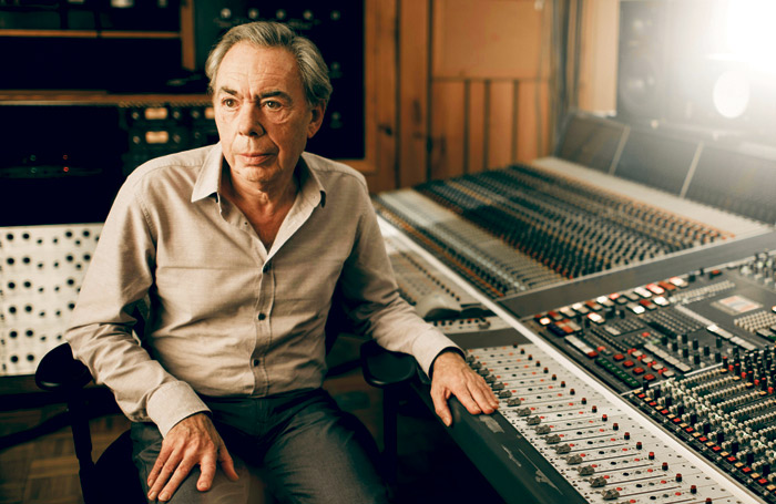 Andrew Lloyd Webber in the studio. Photo: Gregg Delman