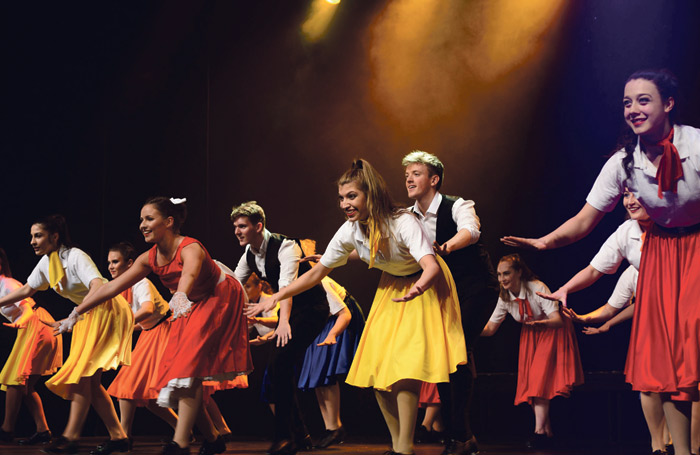 Liverpool Theatre School students perform on stage. Photo: Barrie Mills