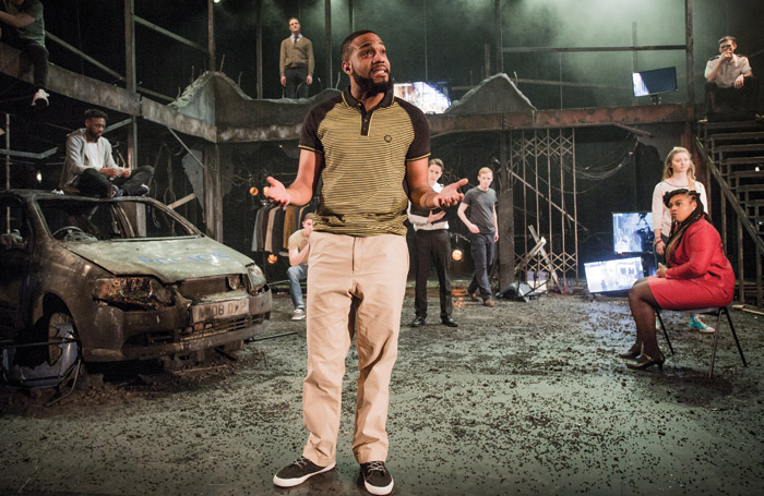 Rose Bruford College 2017 production of The Riots at Stratford Circus. Photo: Robert Workman