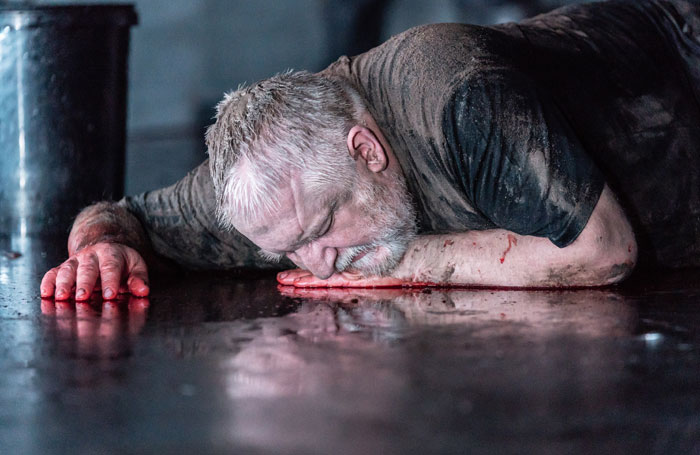 Simon Russell Beale in The Tragedy of King Richard the Second at Almeida Theatre, London. Photo:Marc Brenner
