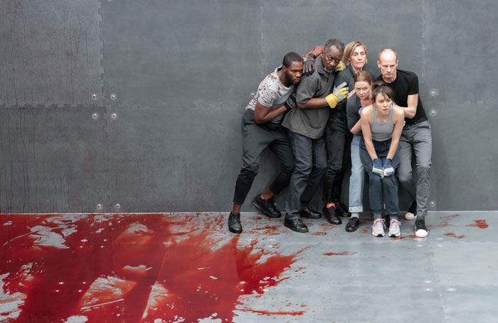 The cast of The Tragedy of King Richard the Second at Almeida Theatre, London. Photo: Marc Brenner