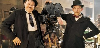 John C Reilly and Steve Coogan in the film Stan and Ollie. Photo: Aimee Spinks