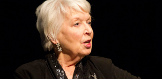 June Whitfield at the Slapstick Festival in Bristol in 2013, where she received the Aardman Slapstick Comedy Legend Award. Photo: Wikimedia and Slapstick Festival