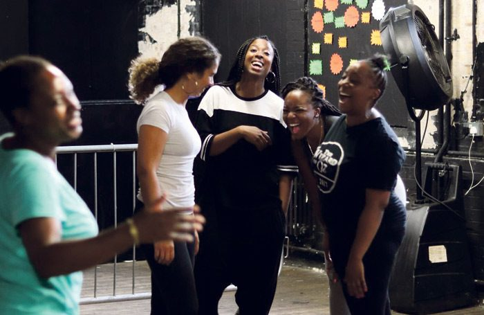 Following the success of its show Queens of Sheba – seen here in rehearsal – Nouveau Riche has announced a new development programme for emerging writers, directors and producers. Photo: James Hardie