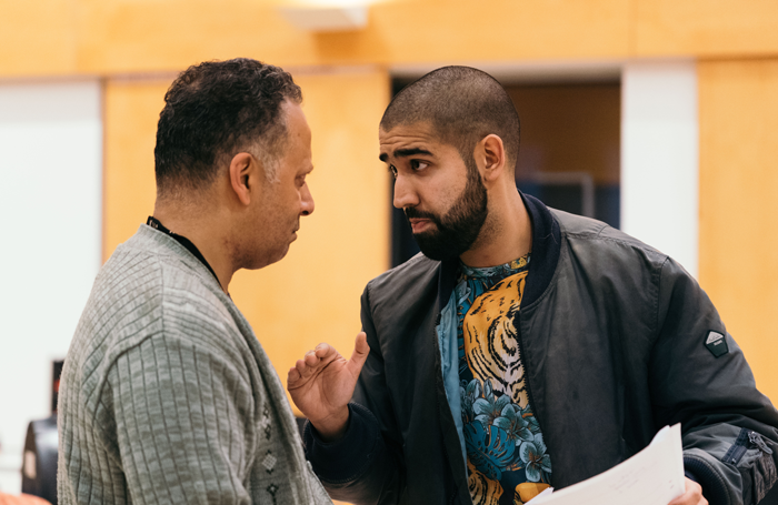 Kammy Darweish and Maanuv Thiara in rehearsals for Approaching Empty