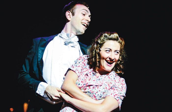 RWCMD postgraduate students in a production of Betty Blue Eyes. Photo: Kirsten McTernan