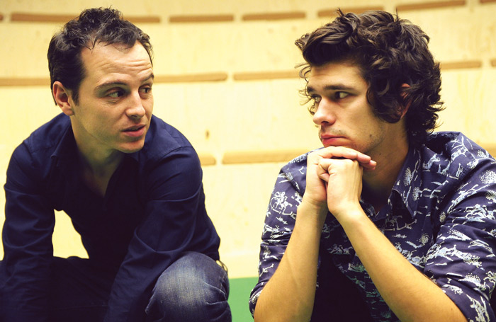 Andrew Scott (M) and Ben Whishaw (John) in Cock (2009). Photo: Tristram Kenton