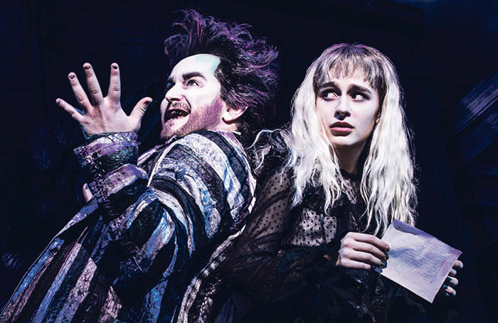 Alex Brightman and Sophia Anne Caruso in Beetlejuice