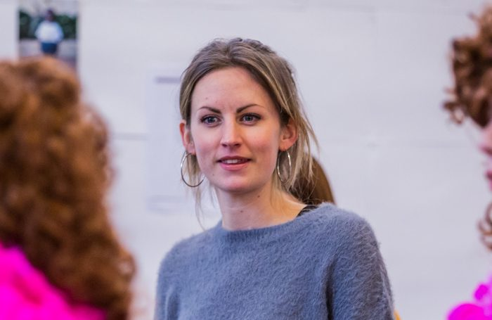 Director Alice Hamilton in rehearsals for In Lipstick by Annie Jenkins. Photo: Ali Wright