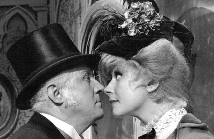 Carol Channing as Dolly Levi with Milo Boulton in Hello Dolly on Broadway in 1966. Photo: Wikimedia/Eric Skipsey