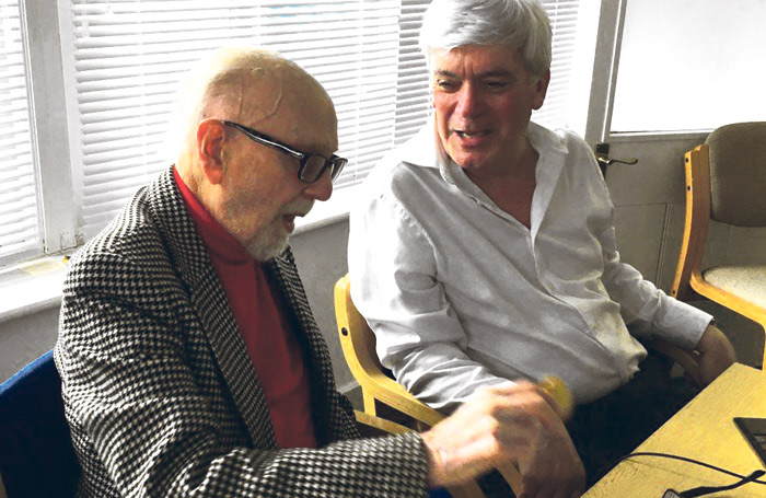 Project founder Roy Fowler (left) and current chair Mike Dick. Photo: British Entertainment History Project