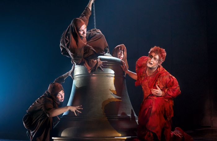 Richard Charest as Quasimodo (right). Photo: Alessandro Dobici