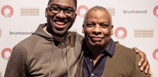 Chair of the judging panel Kwame Kwei-Armah with Royal Exchange associate artist Don Warrington. Photo: The Other Richard
