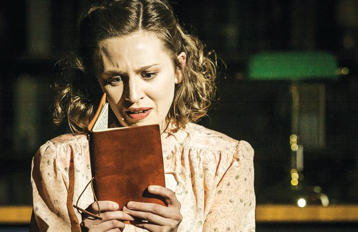 Sophie Greenham in Dracula at Blackwell's Bookshop in Oxford. Photo: Richard Budd