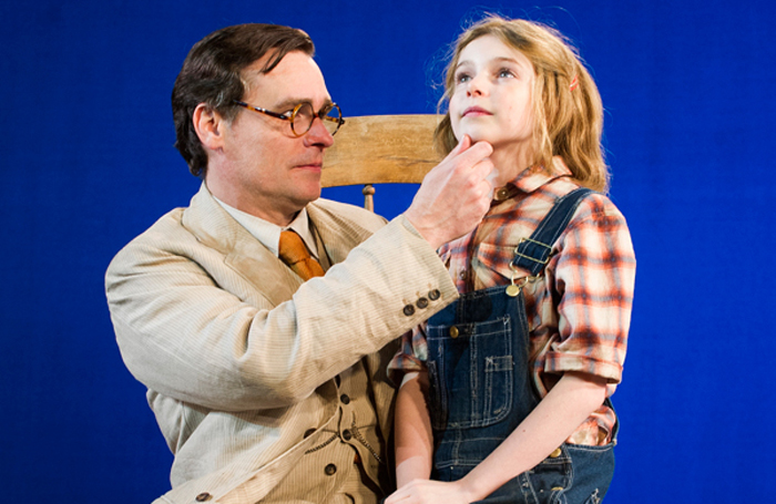 Eleanor Worthington-Cox (Scout) and Robert Sean Leonard (Atticus Finch) in To Kill A Mockingbird at Regent's Park Opera in 2013. Photo: Tristram Kenton