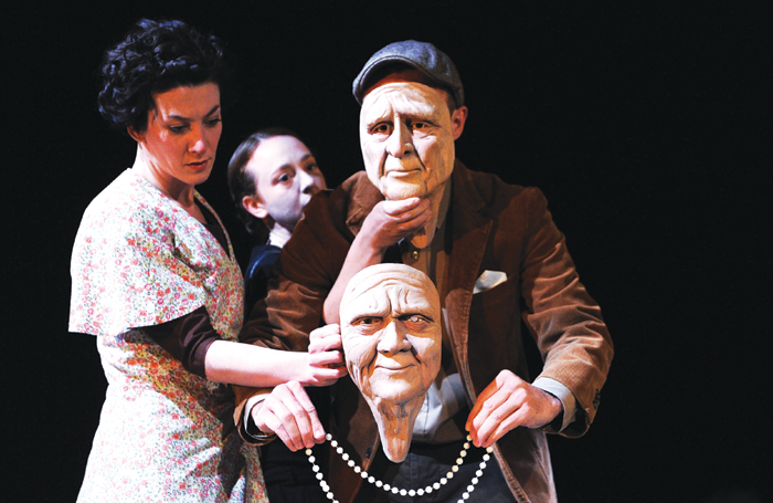 Deborah Pugh, Kim Heron and George Mann in Translunar Paradise. Photo: Tristram Kenton