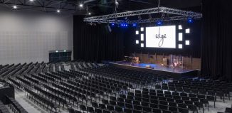 Main auditorium of the Edge, Wigan's new, 1,000-seat venue. Photo: Will Fisher