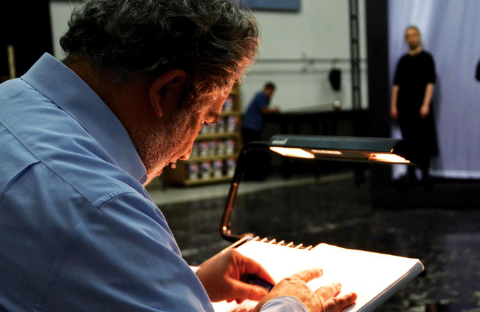 Carlo Rizzi in rehearsals for La Forza del Destino. Photo: Olivia Richardson