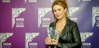 Best actress winner Eve Myles at the 2019 BBC Audio Drama Awards. Photo: BBC