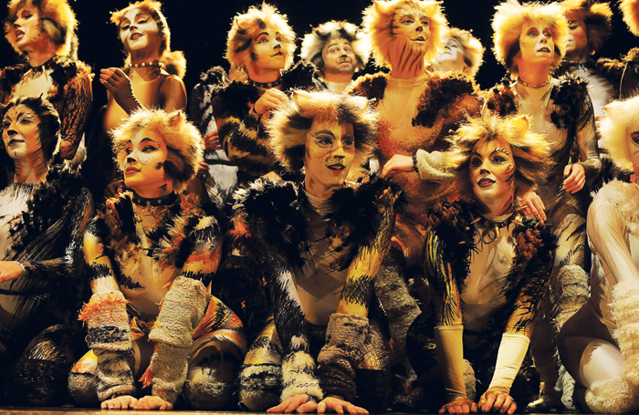 Cats (here in its 2015 West End revival). Photo: Alessandro Pinna