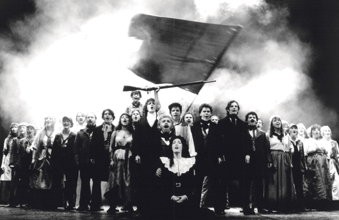 The original London staging of Les Miserables
