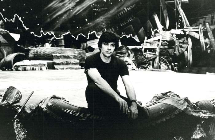 Napier on the set of Cats in the 1980s. Photo: Christopher Pearce