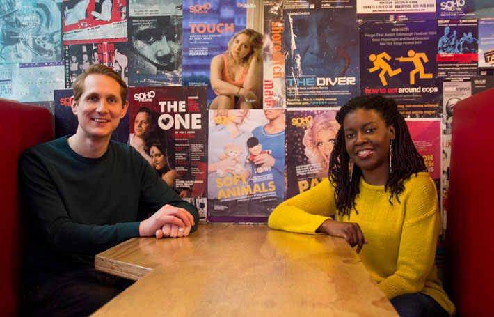 David Luff and Lakesha Arie-Angelo, respectively creative director and associate artist at London's Soho Theatre