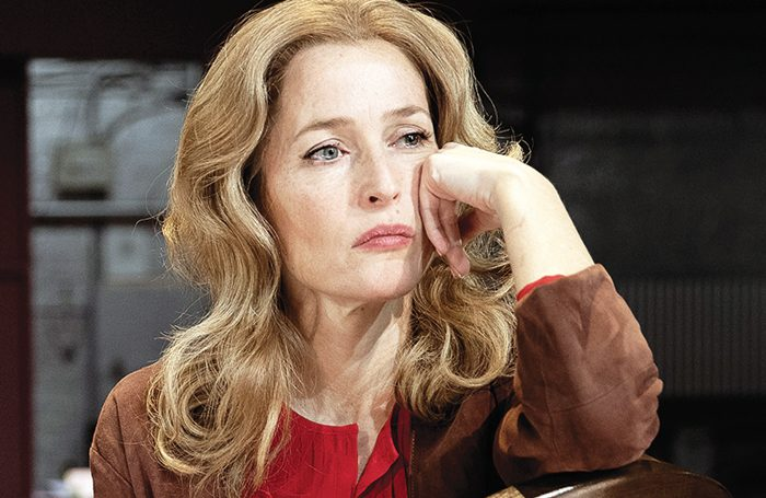 Gillian Anderson in All About Eve. Photo: Jan Versweyveld