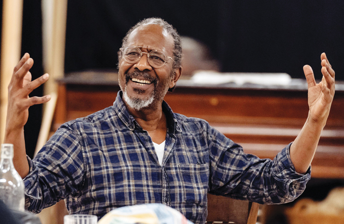 Clarke Peters in rehearsals for The American Clock. Photo: Manual Harlan