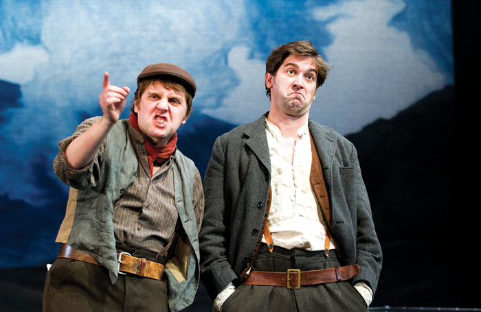 Jamie Beamish and Owen McDonnell in a 2011 production of Stones in His Pockets at Tricycle Theatre, Kilburn