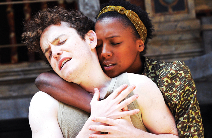 Anouka and Joshua McGuire in Hamlet at Shakespeare's Globe in 2011